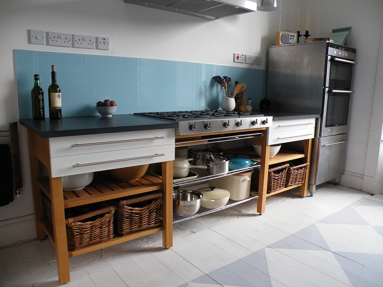free standing kitchens non skid kitchen rugs diggin furniture edinburgh freestanding 2