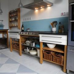 Free Standing Kitchens Metal Kitchen Island Cart Diggin Furniture Edinburgh Freestanding 4