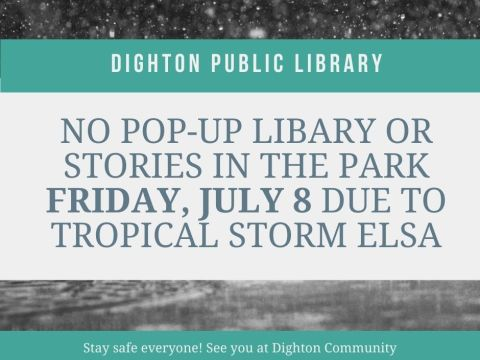 Dighton Pop-Up Library cancelation