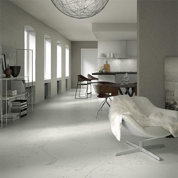 Pavimenti in gres porcellanato effetto marmo  Di Giacomo
