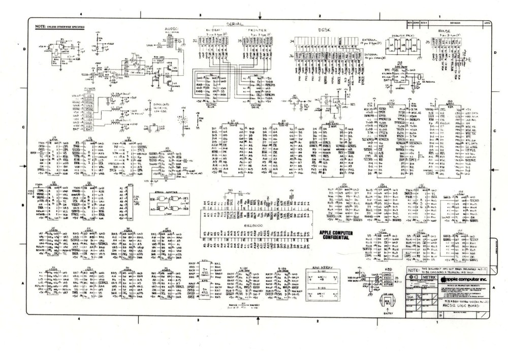 medium resolution of digibarn diagrams original macintosh 512k logic board schematic apple tv wiring diagram apple wiring diagram