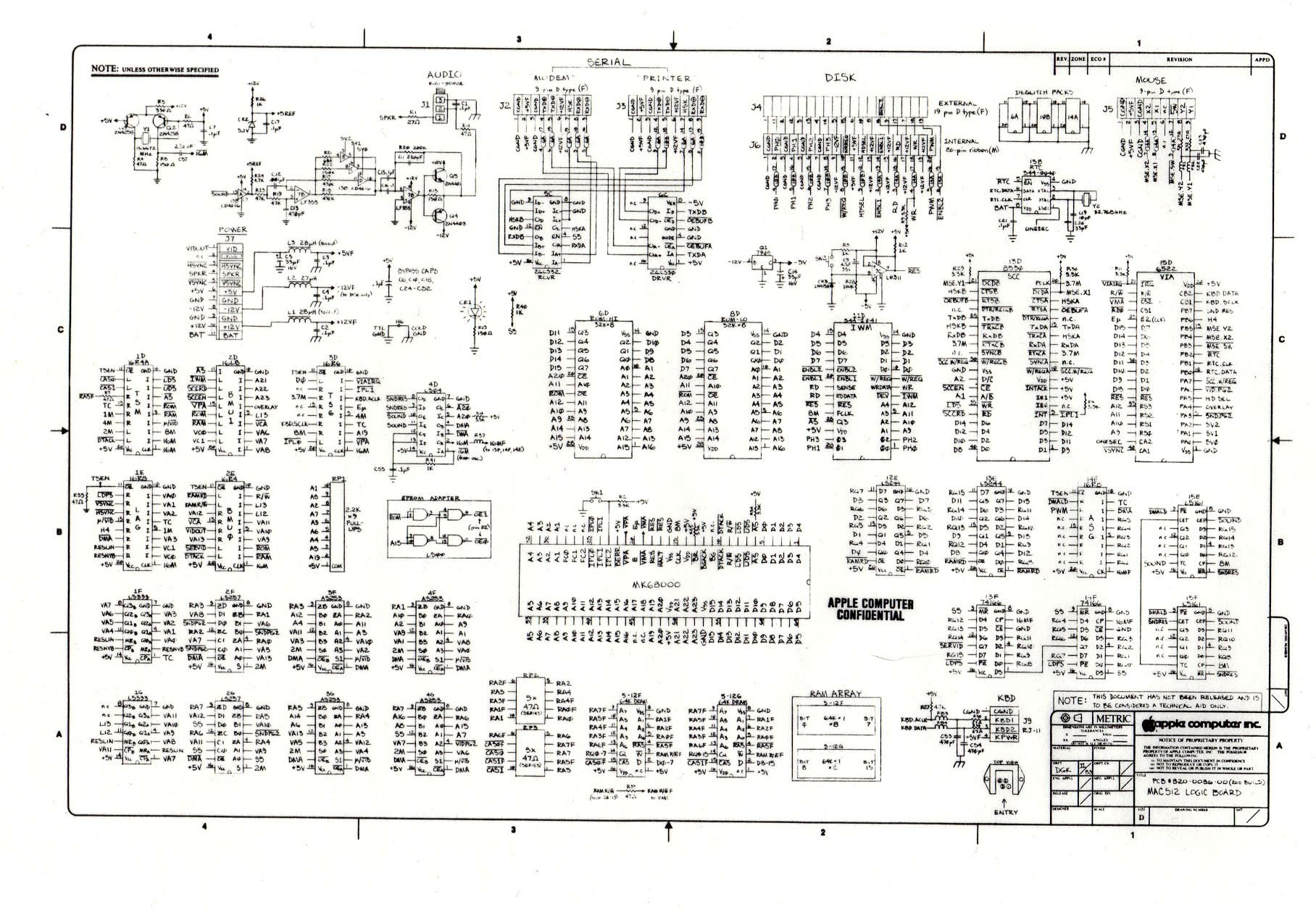 hight resolution of digibarn diagrams original macintosh 512k logic board schematic apple tv wiring diagram apple wiring diagram