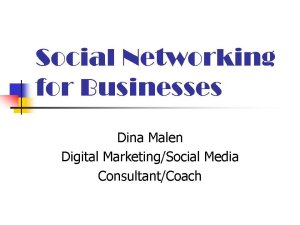 Social Networking for Businesses ppt