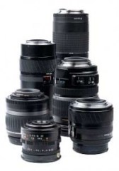 Varying focal lengths of DSLR lense