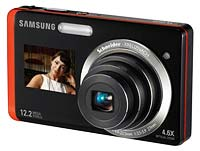 Front view of Samsung DualView digital camera