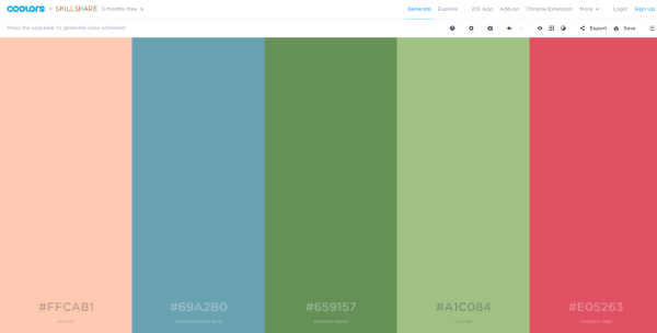 Web Page Color Schemes Generator Coloring Pages