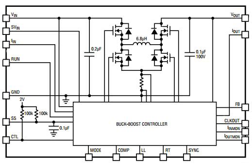 circuit diagram of buck boost converter wds bmw wiring system download new dc converters jitter free digikey linear technology µmodule regulator ltm8056