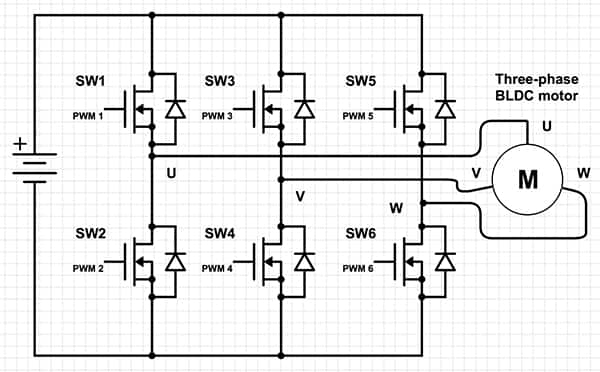 6 lead 3 phase motor wiring diagram 4 way round trailer plug how to power and control brushless dc motors digikey of scheme it three bldc