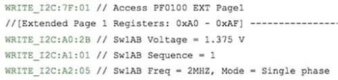 Image of NXP MMPF0100 dedicated registers
