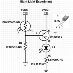 Led Light Circuit Diagram For Dummies Phase Equilibria Diagrams And Transformations Transistor Basics Digikey Of 2n3906 Example Night Lighting An With A Pdv P5003