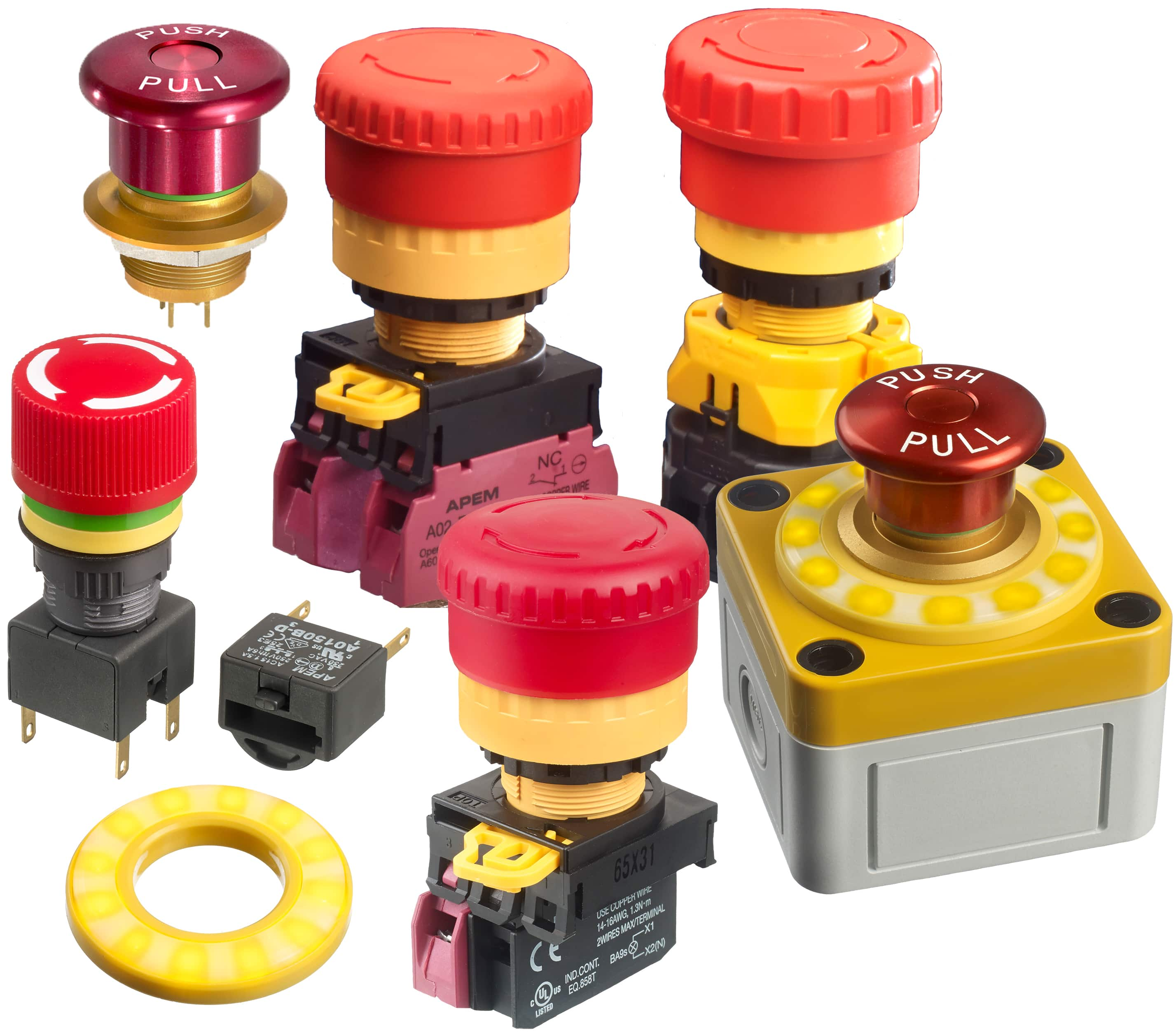 small resolution of image of apem s emergency stop switches and accessories