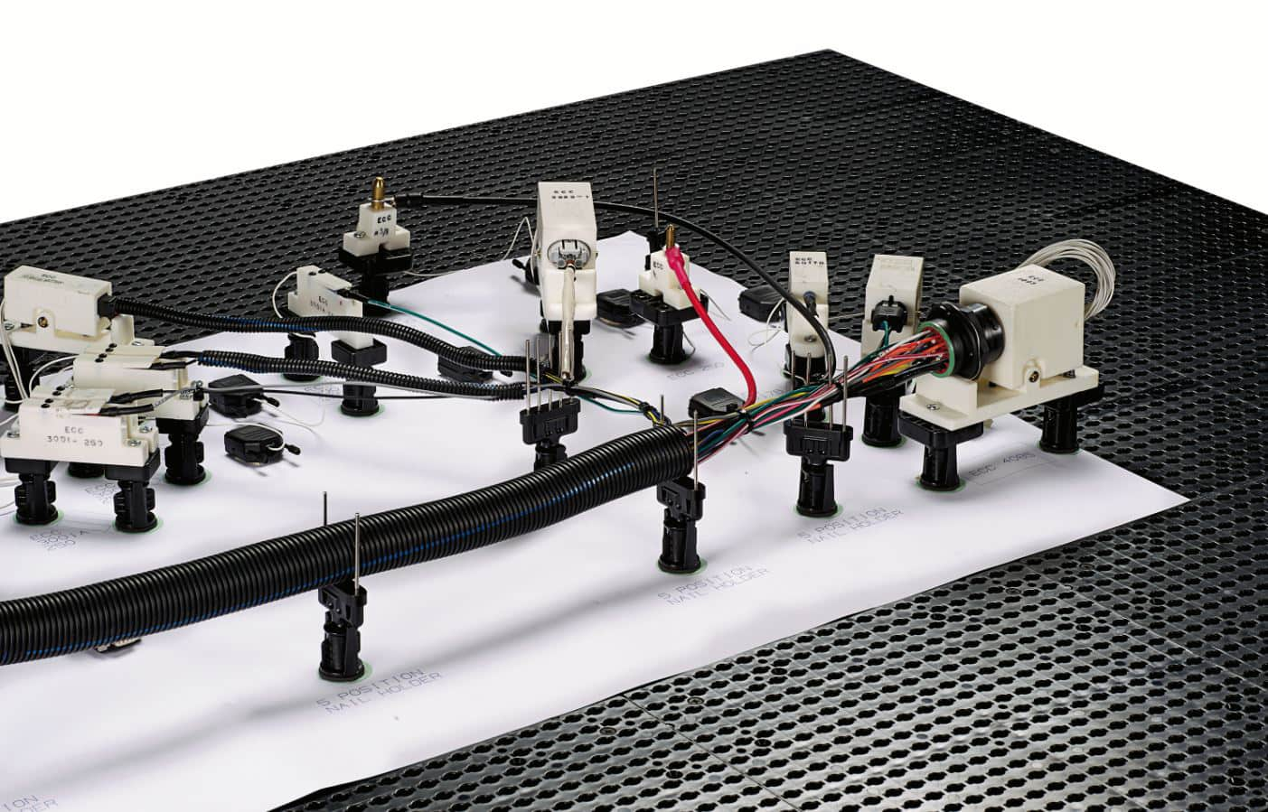 hight resolution of image of panduit s quick build harness board system