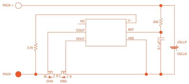 lithium ion cell diagram trailer wiring 7 pin protection typical application schematic for texas instruments bq29700d