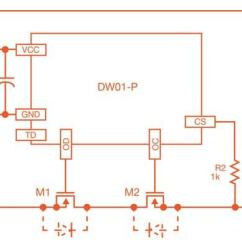 Lithium Ion Cell Diagram 1986 Ford F350 Wiring Protection Typical Application Schematic For Dw01 P