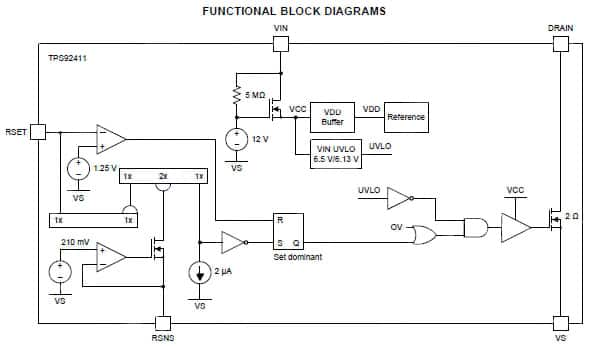 tps92411 switch for acled driver circuits by ti