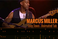 MARCUS MILLER – TEEN TOWN – Animated Tab