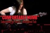 COMFORTABLY NUMB – SOLO COVER BY TINA S – Tablatura animada