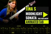 LUDWIG VAN BEETHOVEN – MOONLIGHT SONATA – 3RD MOVEMENT – TINA S Cover – Animated Tab