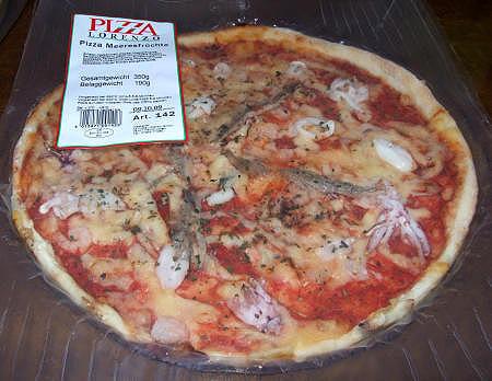 """Pizza Meeresfrüchte Marke """"Pizza Lorenzo"""" vom Edeka"""