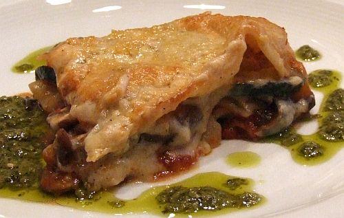 Gemüselasagne mit Pesto Genovese