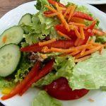 Salat zum Schnitzel (Waldgaststätte Gundelhard in Hofheim-Lorsbach)