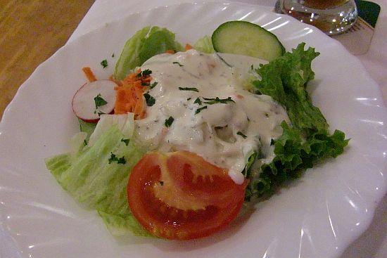 Beilagensalat in der Gaststätte Am Reis in Kelkheim-Hornau
