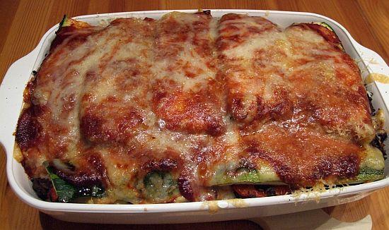 Zucchini-Paprika-Auflauf-mit Hackfleisch und Nudeln