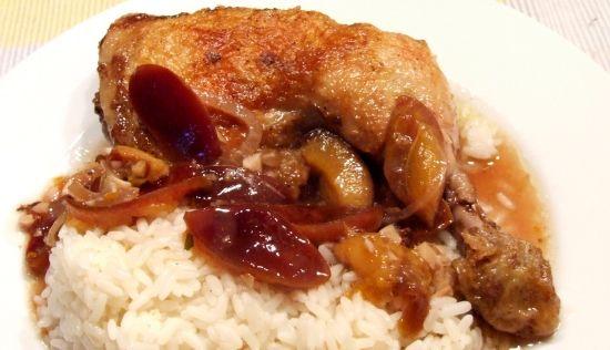 Foto: Hähnchen mit Portwein-Zwetschgen