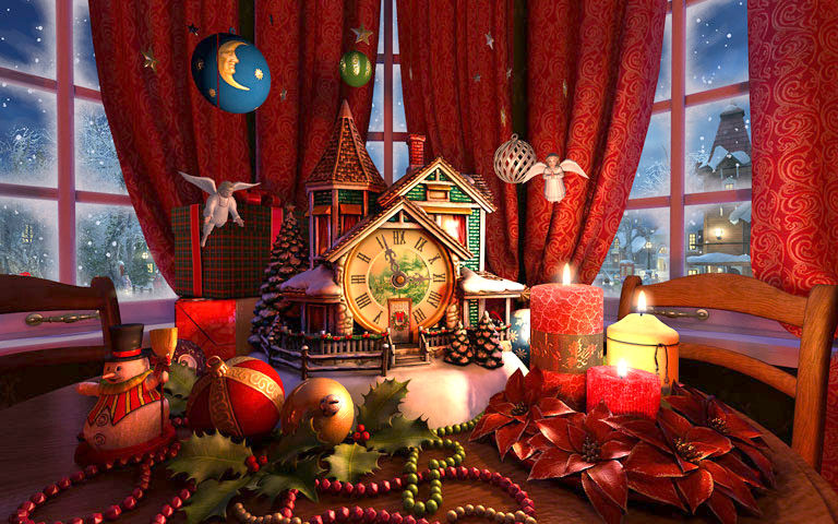 Free Full Screen Fall Wallpaper Christmas Evening 3d Screensaver Download Animated 3d