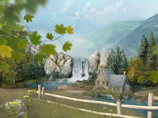 Hd Fish Live Wallpaper For Pc Mountain Waterfall 3d Screensaver Download Animated 3d