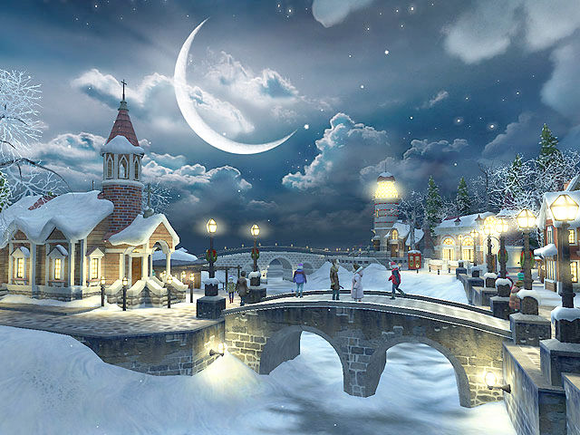 Fish 3d Live Wallpaper Download Snow Village 3d Gallery Image 1 Of 3