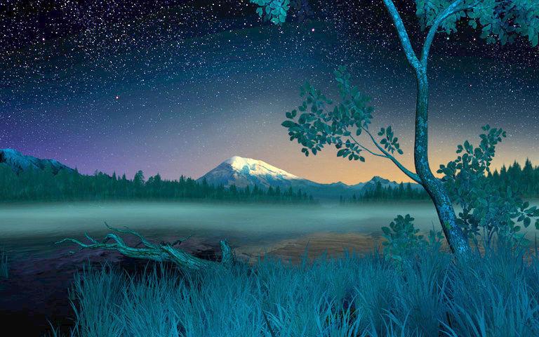 Live Wallpaper Fall Leaves Starry Night 3d Salvapantallas Descargar Salvapantalla