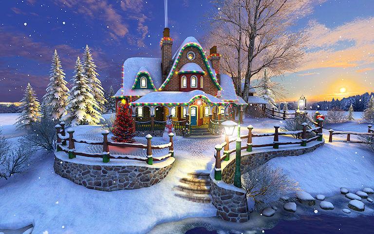 Falling Snow Live Wallpaper For Pc White Christmas 3d Salvapantallas Descargar