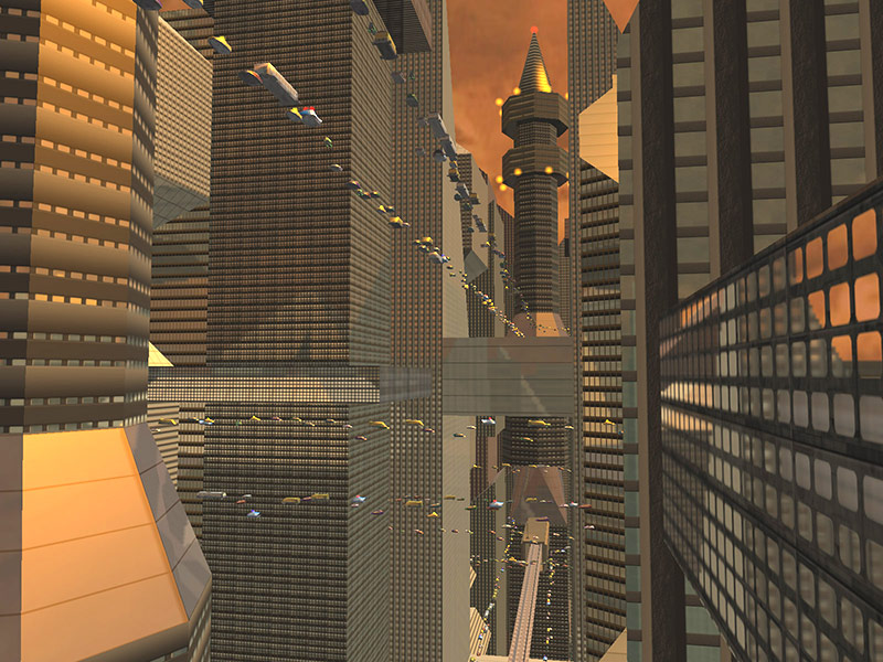 Fall Pc Wallpaper Future City 3d Screensaver Download Animated 3d Screensaver