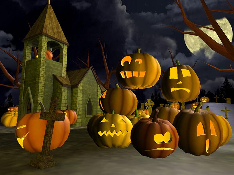 Free Animated Fall Desktop Wallpaper Terrifiant Halloween 3d 201 Cran De Veille T 233 L 233 Charger