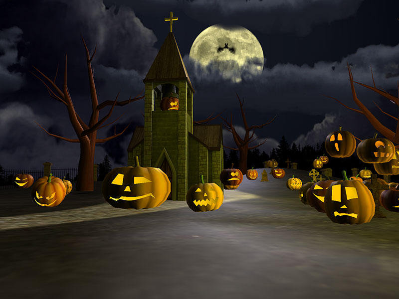 Witches Fall Wallpapers Scary Halloween 3d Gallery Image 2 Of 3