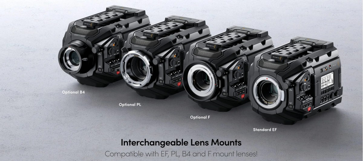 URSA Mini Pro 4.6K Lens Mounts