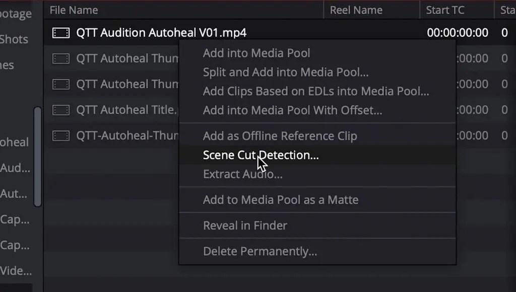 Scene Cut Detection Select
