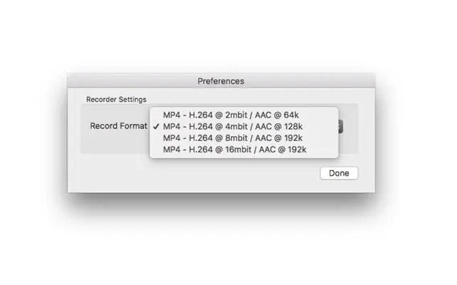 NDI Recorder MP4 Options