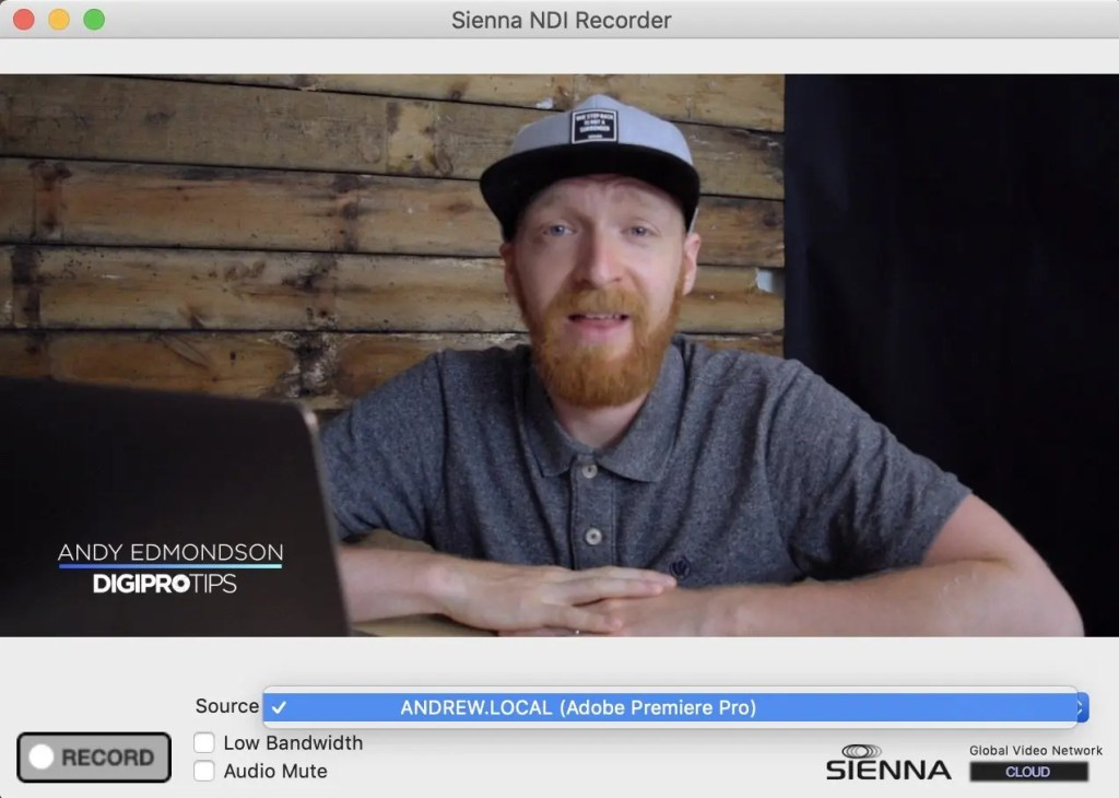 NDI Recorder Premiere Pro Source