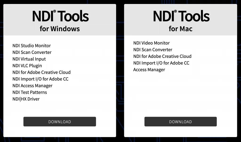 NDI Tools Downloads for Windows & Mac