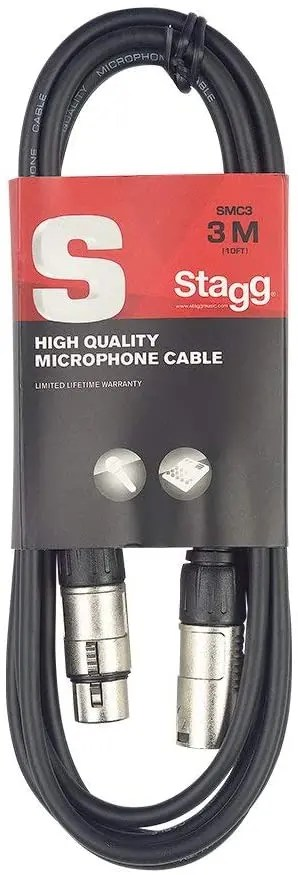 Stagg 10ft XLR Mic Cable