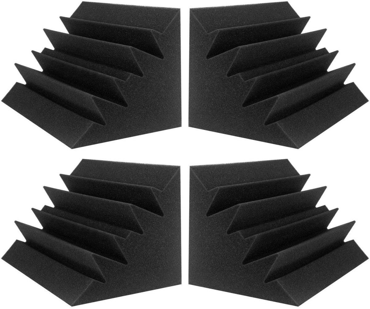 Acoustic Foam Bass Traps - audio recording on iphone