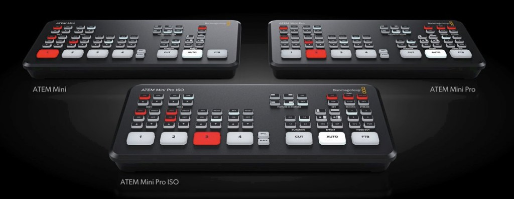 ATEM Mini Models - live video switcher