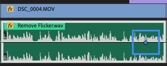 Audio Keyframe - fade out audio premiere