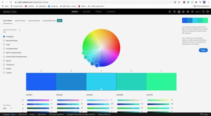 Adobe Color Wesbite