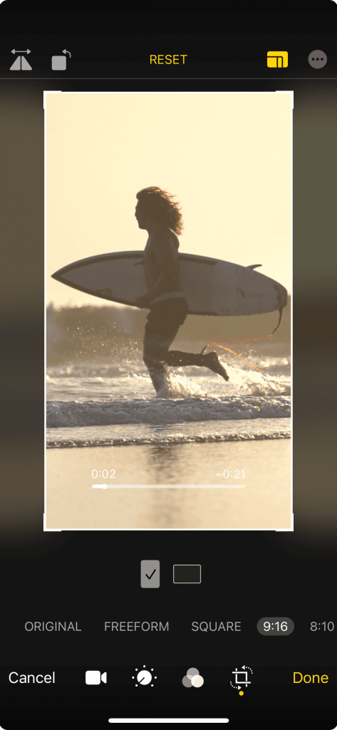 How to Crop Videos iPhone iOS Scale