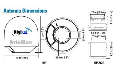 Intellian Technologies i9P Marine Autotracking TV Antenna