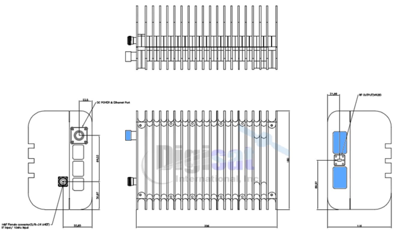 Norsat Stc O3b 10w Ka Band Block Upconverter
