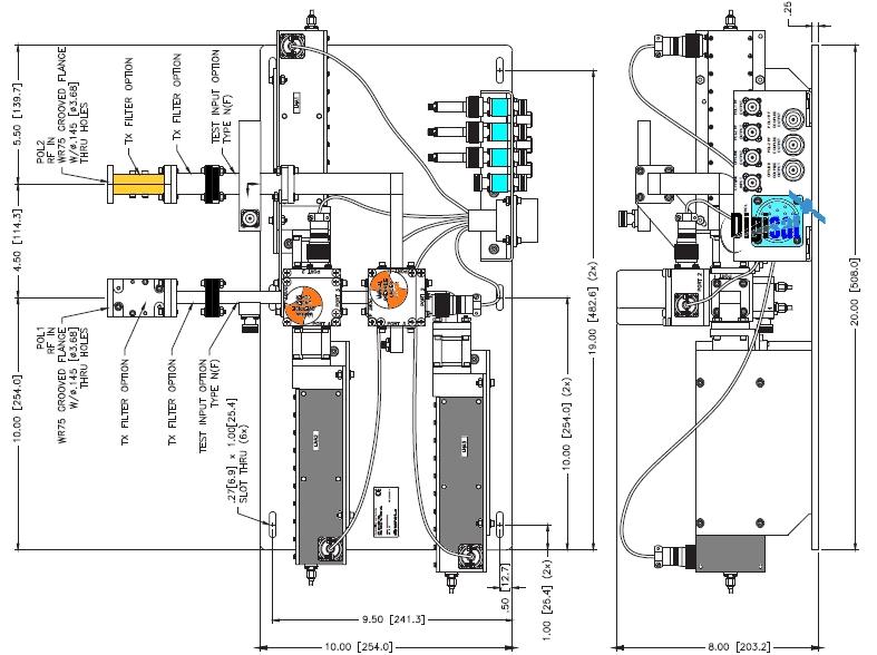 Paradise Datacom Ku-Band Redundant LNA Plate Systems